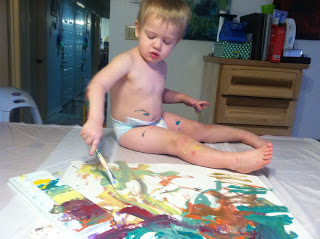 Paint fun with Nolan