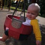 Luke's First Swing