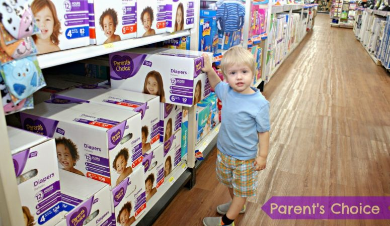 KEEPING MY TWO YEAR OLD DRY AND SAVING MONEY WITH PARENT'S CHOICE DIAPERS… WHO CAN BEAT THAT?