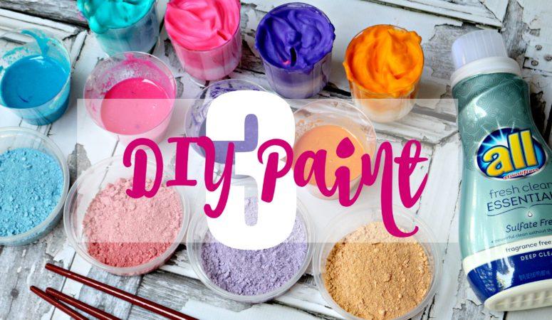 How to make homemade paint.