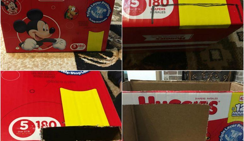 DIY Diaper Storage