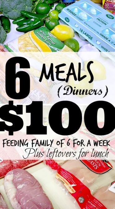 Feeding my family for $100 a week! #weekone
