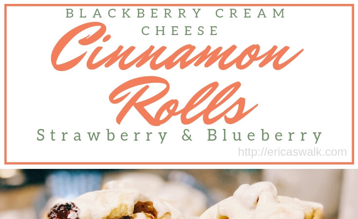 Blackberry Cream Cheese Cinnamon Rolls.